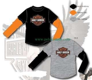 Shirt Bimbo Harley Davidson Grigia 12 anni #9365