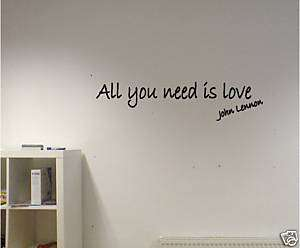 WALL ART vinyl decal sticker JOHN LENNON BEATLES
