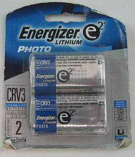 Energizer Lithium Photo CRV3 Battery Pack Exp 2014 ASIS