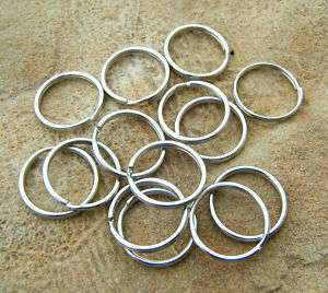Split Key Rings Chrome lot of 100 crafts leather tags
