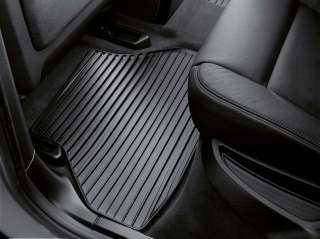 BMW Genuine All Weather Rear Floor Mat Set Black E71 X6 51470432793