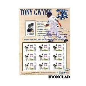 Ironclad San Diego Padres Tony Gwynn Signed Hall of Fame