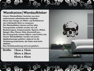 Wandtattoo Totenkopf Skull Schädel FZ1161