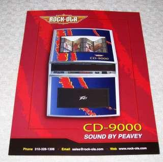 ROCKOLA CD 9000 PEAVEY SOUND JUKEBOX FLYER BROCHURE 05