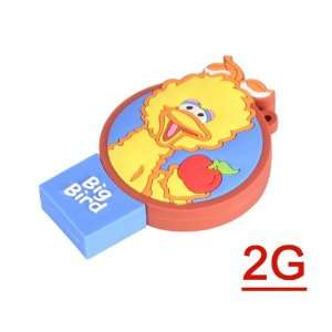 2 GB Sesame Street Big Bird USB 2.0 Flash Drives U Disk