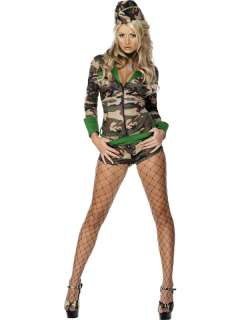 Sexy Army Girl Fancy Dress Costumes, Ladies Military Uniform, War