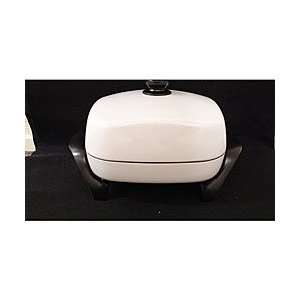 West Bend 12 Inch White Electric Skillet: Kitchen & Dining