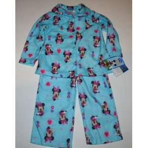Disney Minnie Mouse 2 Piece Pajama Set Size 2T Blue Baby