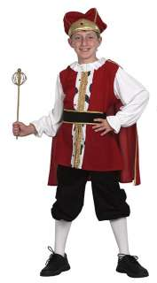 BOYS BOOK WEEK MEDIEVAL KING PRINCE FANCY DRESS COSTUME