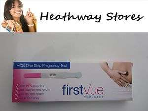 FIRST VUE PREGNANCY TEST OVER 99% ACCURATE EASY TO USE BARGAIN