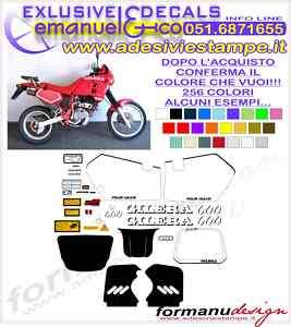 KIT ADESIVI DECAL GILERA RC 600 1989