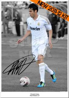 RICARDO KAKA SIGNED PHOTO AUTOGRAPH REAL MADRID BRAZIL