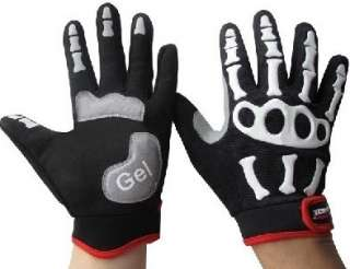 Skeleton Hand Motorcycle Riding Sport Gloves   DinoDirect