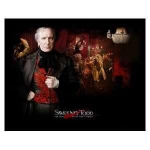 ALAN RICKMAN Sweeney Todd unsigned 8x10 photo