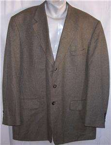 48R Stafford BLUE OLIVE GREEN TWEED SILK WOOL sport coat suit blazer