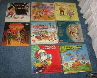 Disney LP Record Lot Peter and Wolf Rudolph Wizard Oz