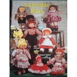 CALENDAR KIDS CROCHET DOLLS BY MARGARET BOLLAND AND LINDA