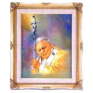 Pope John Paul II   Framed Art, 16 x 20   Artwork by