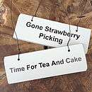 Afternoon Tea Wooden Hanging Signs   garden & outdoors