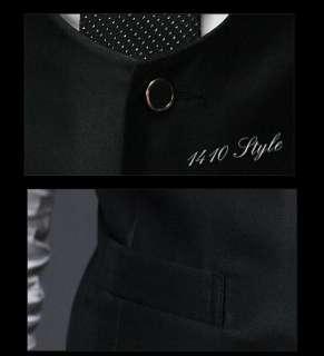Mens Fashion Stylish Slim One Button three piece Suit