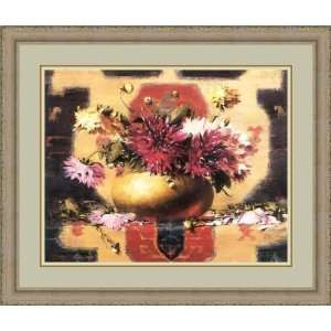 in a Brass Po by Rober A. Johnson   Framed Arwork Home & Kichen
