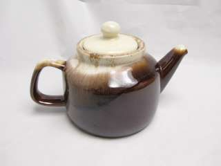 Vintage McCoy Tea Pot 163 Brown Drip Glaze