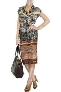Missoni Renata crochet knit pencil skirt