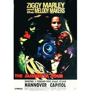 Ziggy Marley Original German Concert Poster 1992 bob