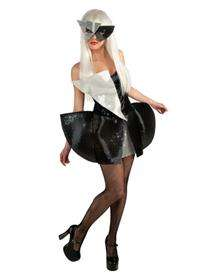Lady Gaga Black and Silver Sequin Dress Teen Costume