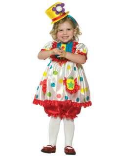 Child Colorful Girl Clown Costume  Girls Clown Halloween Costumes