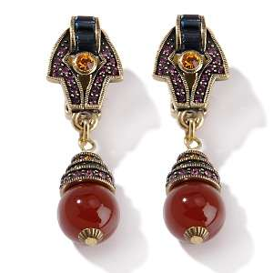 Simply Opulent Crystal Accented Round Bead Drop Earrings
