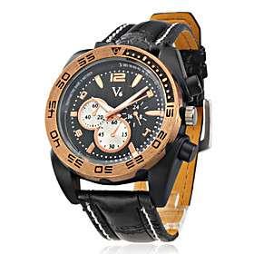 € 6.00   hombre nuevo y elegante negro pu deportivo reloj de pulsera