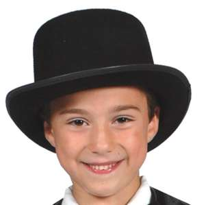Kids Black Felt Top Hat   Costume Accessories   Hats
