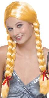 Blonde Braids Wig   German, Alpine and Oktoberfest Costume Accessories