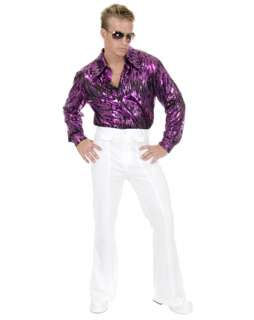 Disco Pants In White Costume   Mens 70s Halloween Costumes