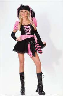 This is one sexy pirate Low cut mini dress with sleevelets, lace up
