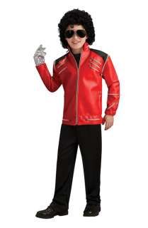 Michael Jackson Deluxe Red Zipper Jacket Child Costume for Halloween
