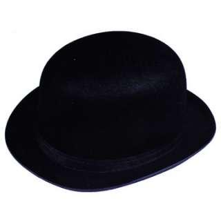 Adult Black Felt Derby Hat   Historical Costume Hats   15GC09BK