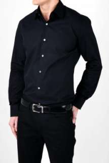 Black Cotton Mid Fit Shirt by Paul Smith London   Black   Buy Shirts
