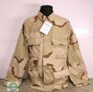 US Army MILITARY 3 Color Desert LS BDU Shirt M/L NEW