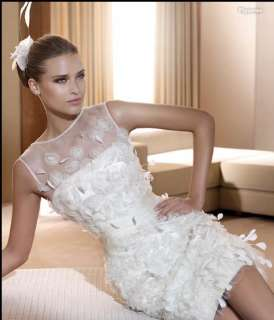 Gorgeous Custom made Tank Top Short Wedding Dress 2012 Bridal Gown