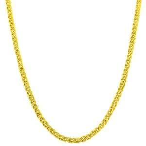 10 Karat Yellow Gold 2.4 mm Tiger Eye Link Chain (18 Inch