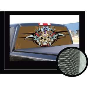 BLOODY SKULL 16 x 54   Rear Window Graphic   back compact pickup