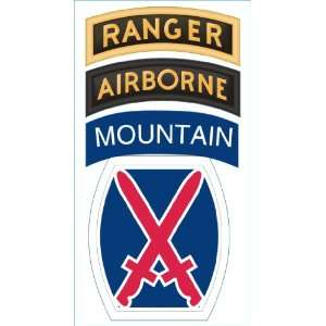 Division Ranger Airborne Tab Patch Decal Sticker 5.5 Everything Else