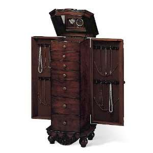 Jewelry Armoire Chest With Jewelry Storage Drawers In Antique