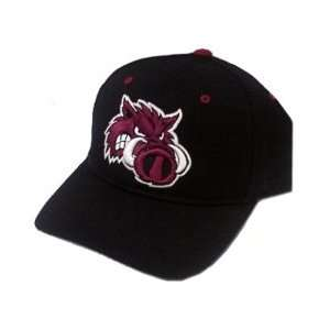 Zephyr Arkansas Razorbacks Black Fitted Hat w/Angry Hog: