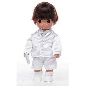 Brunette Boy First Communion Doll by Precious Moments