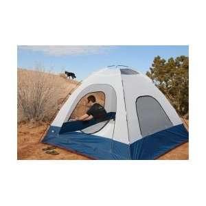 Black Pine Big Country 4 man Tent (White/Blue)  Sports