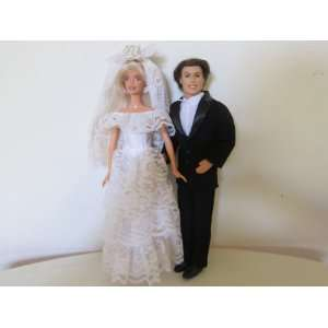 Barbie and Ken Bride and Groom Wedding Couple Toys