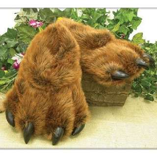 Grizzly Bear Paw Furry Slippers Keep Feet Warm in Winter